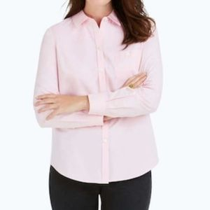 Foxcroft - The Hamptons Button Down Pink Size 14P